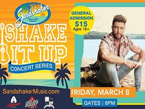 March 8th, Shake It Up Concert Series w Chirs LANE